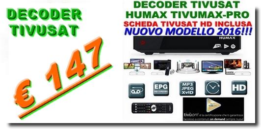Il decoder Tivusat Humax HD