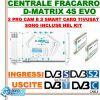 CENTRALINO TRASMODULATORE TV/SAT FRACARRO D-MATRIX S4 EVO + 2 PROCAM TIVUSAT
