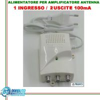 ALIMENTATORE PER AMPLIFICATORE DA PALO TV 2 OUT 12V 100mA CON LED-12102C TELECO