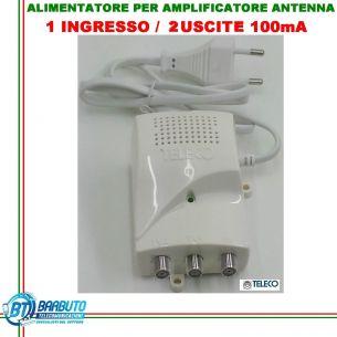 ALIMENTATORE PER AMPLIFICATORE DA PALO TV 2 OUT 12V 100mA CON LED-12102C TELECO