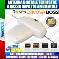 ANTENNA PER IMBARCAZIONI DIGITALE TERRESTRE DINOVA BOSS LTE 33dB TELEVES 144211