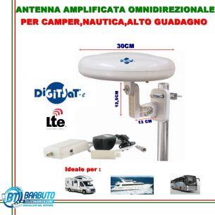 ANTENNA OMNIDIREZIONALE DIGITSAT 32dB, LTE, CAMPER, BARCA, CAMPEGGIO MOD.AV9003C