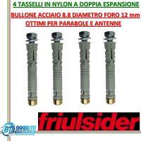 4 TASSELLI IN NYLON A DOPPIA ESPANSIONE FRIULSIDER Ø12mm CODICE 63100b12070