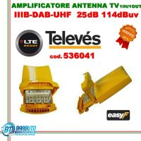 AMPLIFICATORE DA PALO 3 Ingressi B3 23dB UHF-UHF 25dB LTE TELEVES art.536041