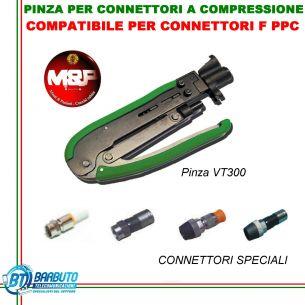 PINZA PER CONNETTORI A COMPRESSIONE COMPATIBILE PER CONNETTORI F PPC VT300