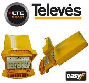 AMPLIFICATORE DA PALO 2 Ingressi B3/DAB/UHF + UHF 25dB LTE TELEVES art.536040