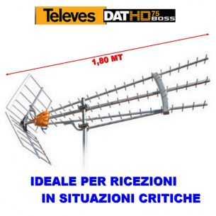 ANTENNA DIGITALE TERRESTRE ALTO GUADAGNO DAT 790 LR BOSS NEW LTE TELEVES 149740
