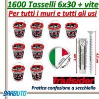 1600 TASSELLI UNIVERSALI FRIULSIDER X1 IN NYLON 6X30mm CON VITE E CON SECCHIELLO