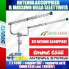 KIT ANTENNE ACCOPPIATE 2x45UD + coupler UHF + supporto ad U / cod. 2160KITL