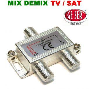 MIX / DEMIX - TV / SAT DA INTERNO - PRESSOFUSIONE A BASSA PERDITA