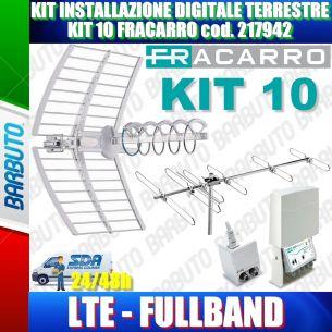 KIT 10 ANTENNA FRACARRO INSTALLAZIONE DIGITALE TERRESTRE FULL BAND FILTRO LTE cod. 217942