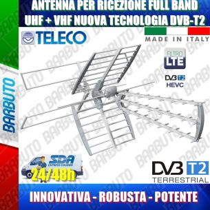 ANTENNA COMBO DIGITALE TERRESTRE FULL BAND LTE UHF + VHF 1 OUT 45 ELEMENTI GUADAGNO 17dB TELECO SWING455LTE/VU