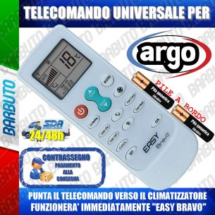 TELECOMANDO UNIVERSALE PER CLIMATIZZATORI ARGO (BATTERIE INCLUSE)