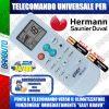 TELECOMANDO UNIVERSALE PER CLIMATIZZATORI HERMANN SAUNIER DUVAL (BATTERIE INCLUSE)