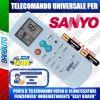 TELECOMANDO UNIVERSALE PER CLIMATIZZATORI SANYO (BATTERIE INCLUSE)
