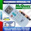 TELECOMANDO UNIVERSALE PER CLIMATIZZATORI MCQUAY (BATTERIE INCLUSE)