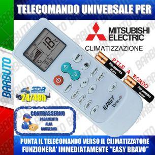 TELECOMANDO UNIVERSALE PER CLIMATIZZATORI MITSUBISHI (BATTERIE INCLUSE)