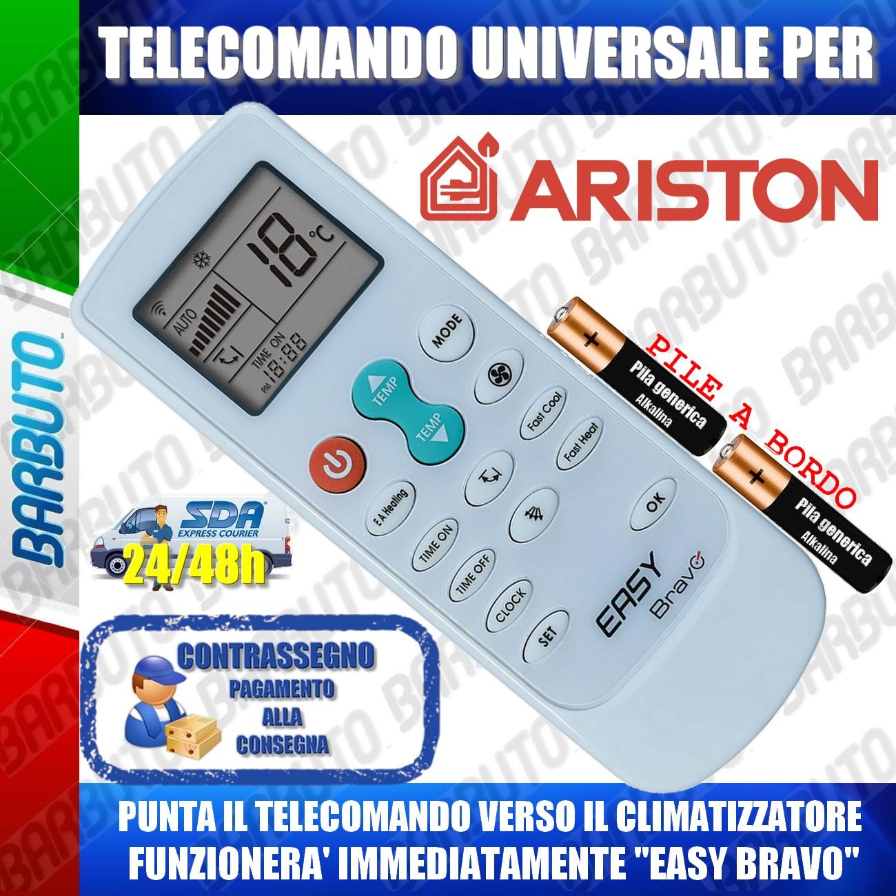TELECOMANDO UNIVERSALE PER ARISTON CLIMATIZZATORE CONDIZIONATORE D/'ARIA