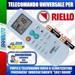 TELECOMANDO UNIVERSALE PER CLIMATIZZATORI RIELLO (BATTERIE INCLUSE)