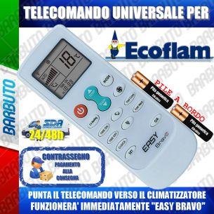 TELECOMANDO UNIVERSALE PER CLIMATIZZATORI ECOFLAM (BATTERIE INCLUSE)