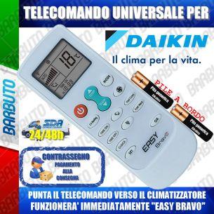 TELECOMANDO UNIVERSALE PER CLIMATIZZATORI DAIKIN (BATTERIE INCLUSE)