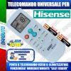 TELECOMANDO UNIVERSALE PER CLIMATIZZATORI HISENSE (BATTERIE INCLUSE)