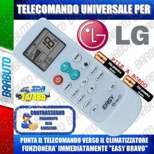 TELECOMANDO UNIVERSALE PER CLIMATIZZATORI LG (BATTERIE INCLUSE)