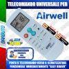 TELECOMANDO UNIVERSALE PER CLIMATIZZATORI AIRWELL (BATTERIE INCLUSE)