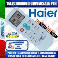 TELECOMANDO UNIVERSALE PER CLIMATIZZATORI HAIER (BATTERIE INCLUSE)