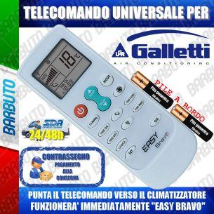 TELECOMANDO UNIVERSALE PER CLIMATIZZATORI GALLETTI (BATTERIE INCLUSE)