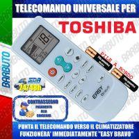 TELECOMANDO UNIVERSALE PER CLIMATIZZATORI TOSHIBA (BATTERIE INCLUSE)