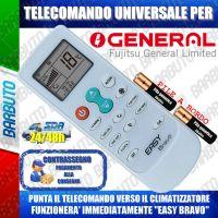 TELECOMANDO UNIVERSALE PER CLIMATIZZATORI GENERAL (BATTERIE INCLUSE)