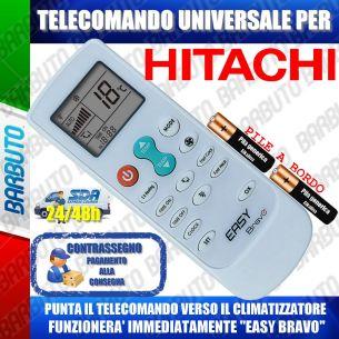 TELECOMANDO UNIVERSALE PER CLIMATIZZATORI HITACHI (BATTERIE INCLUSE)