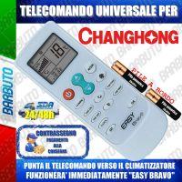 TELECOMANDO UNIVERSALE PER CLIMATIZZATORI CHANGHONG (BATTERIE INCLUSE)