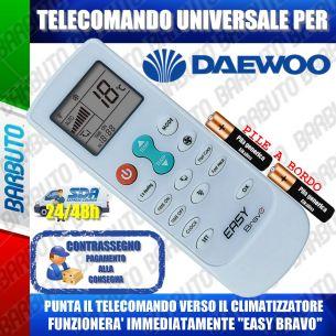 TELECOMANDO UNIVERSALE PER CLIMATIZZATORI DAEWOO (BATTERIE INCLUSE)