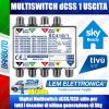 MULTISWITCH dCSS SKY 1 USCITA INDIPENDENTE MOD. PASSANTE LEM ELETTRONICA SC416/1