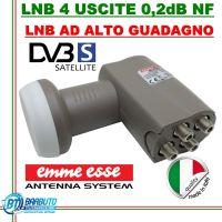 LNB OCCHIO CONVERTITORE 4 USCITE UNIVERSALI 0,1 dB NF EMMEESSE 80199KL LTE