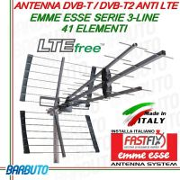 ANTENNA DIGITALE TERRESTRE UHF 41 ELEMENTI 17dB LTE EMMEESSE NEW MADE IN ITALY