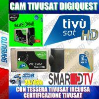 CAM TivuSat DIGIQUEST VERSIONE WIFI, ORIGINALE TIVUSAT - CON SMART CARD ORO