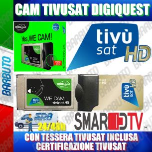 CAM TivuSat DIGIQUEST VERSIONE WIFI, ORIGINALE TIVUSAT - CON SMART CARD ORO