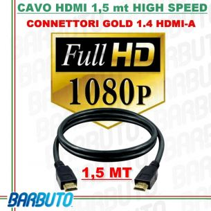 CAVO HDMI 1,5 METRI FULL HD 1080p TV VIDEO PS3 XBOX - HIGH SPEED