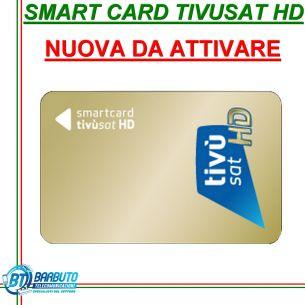 SMART CARD SCHEDA TESSERA TIVUSAT HD NUOVA DA ATTIVARE
