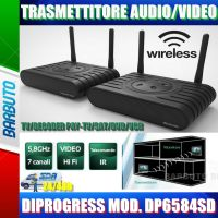 TRASMETTITORE RIPETITORE AUDIO VIDEO 5.8Ghz DIPROGRESS PER TV/DECODER PAY-TV/SKY
