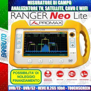 PROMAX RANGER NEO LITE (TOUCH - HEVC H.265 - ANALIZZATORE WIFI - LNB WIDEBAND) Misuratore di Campo