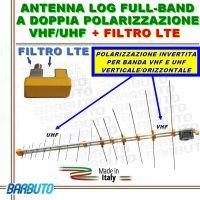 ANTENNA DIGITALE TERRESTRE VHF+UHF 13dB, DOPPIA POLARIZZAZIONE, CON FILTRO LTE