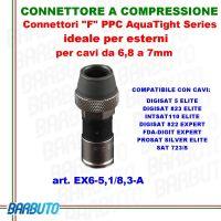 CONNETTORE F A COMPRESSIONE PER CAVI DA 6,8 A 7 mm MESSI e PAOLONI COD. EX6-5,1/8,3-A