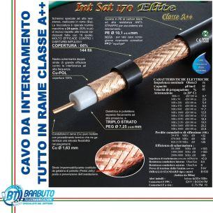 200 MT DI CAVO DA INTERRAMENTO INTSAT 170 ELITE Ø 10,1mm MESSI & PAOLONI CLASSEA++