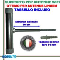 SUPPORTO ANTENNA WIFI - LINKEM OUTDOOR - WIFI PUNTO PUNTO - CPE - LKT25
