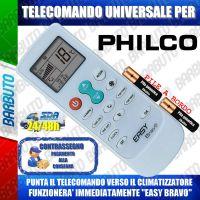 TELECOMANDO UNIVERSALE PER CLIMATIZZATORI PHILCO (BATTERIE INCLUSE)