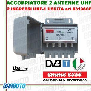 Miscelatore/Accoppiatore d'antenne UHF + UHF da palo Emmeesse 83198CE